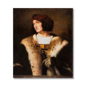 Вечеллио Тициан - Портрет мужчины в красной шапке