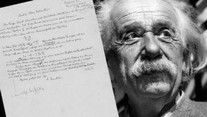 Письмо, Альберта Эйнштейна, выставлено на продажу с аукциона за 396.500$