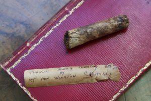 Окурок сигары Уинстона Черчилля был продан с аукциона за 5.655$