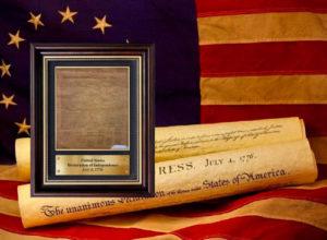 Поглощенная копия Декларации Независимости 1776 года