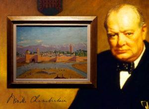 Редкая картина Уинстона Черчилля