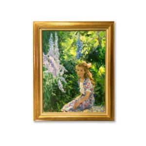 Бернадский - Девочка в саду