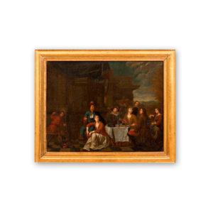 Балтазар ван ден Боссе - Пир на террасе
