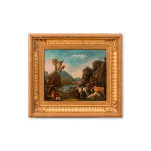 Сальватор Роза (1615-1673) - Пейзаж с пастухами